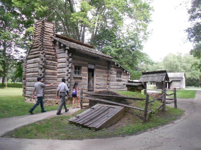 Village de New Salem reconstitué.