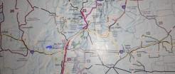 En jaune la Route 66, au crayon bleu, ma route. Pas fait la 14 comme prévu, Gontran ne se sentait pas bien.