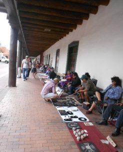 Les marchands du zocalo à la Plaza.
