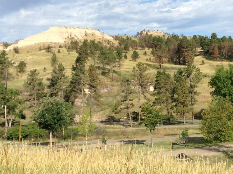 Nous campons un parc national, ce sont toujours de beaux campings.