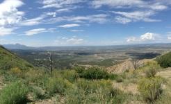 Et on y entre, premier point de vue: Montesuma Valley..