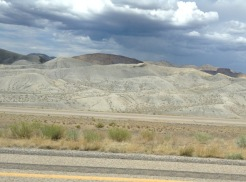 Entrée en Utah: montagnes de sable