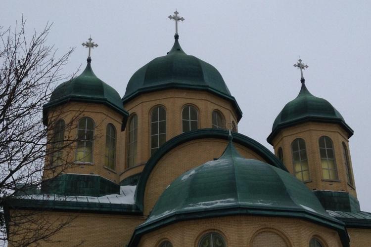 Cathédrale Sainte-Sophie, ukrainienne orthodoxe, sur St-Michel, coin Bellechasse