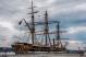 Le premier à arriver à Québec: l'Amerigo Vespucci